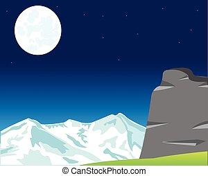 Moon landscape in mountain