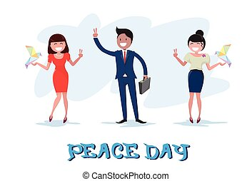 Diverse People Group International Peace Holiday Poster
