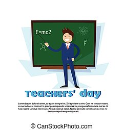 Teacher Day Holiday Man School Class Board