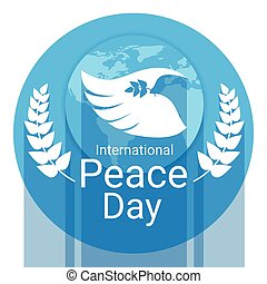 World Peace Day Poster White Dove Bird Wing
