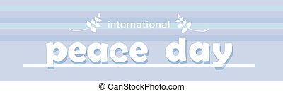 World Peace Day Banner International Holiday Poster