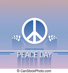 World Peace Day Hippie Sign International Holiday Poster...