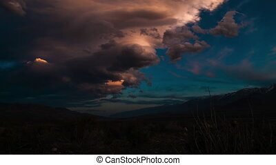 Clouds over White Mountains California Time-lapse 4k -...