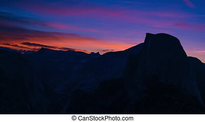 Yosemite National Park Sunrise Glacier Point 4k - Yosemite...