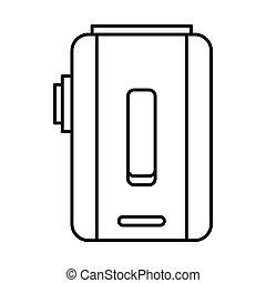 Box mod e-cigarette icon, outline style - Box mod...