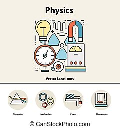 Modern color concept of physics for school, university and...