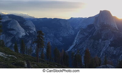 Yosemite National Park Sunrise Glacier Point Timelapse -...