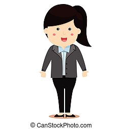 Illustrator of women Business Person