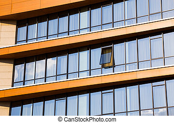 Modern office block with rows of windows