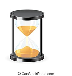 Hourglass icon - Vector illustration of hourglass icon over...
