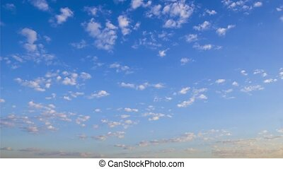 Morning sky with white spindrift clouds of good weather day
