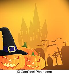 Abstract halloween background, vector