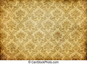 old damask wallpaper - great retro background of some old...