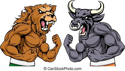 Bears Versus Bulls Stock Market Concept