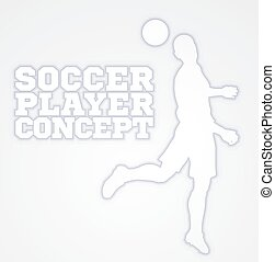Heading Soccer Football Player Concept Silhouette - A...