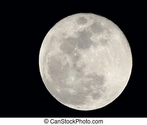 Full Moon - Bright full moon shot during optimum atmospheric...