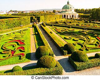 Flower Garden with baroque rotunda in Kromeriz - Kromeriz...