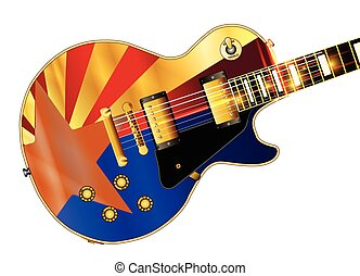 Arizona Flag Guitar Guitar - The definitive rock and roll...