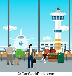 Waiting Room in Airport - Airport , a Waiting Room with...