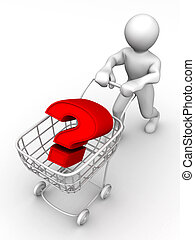Consumer\'s basket with question