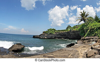 "landscape around Tanah Lot - Tanah Lot means ""Land Sea\"" in..."