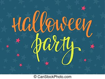 Halloween lettering typography - Halloween Party simple...