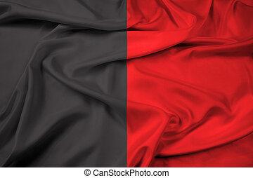 Waving Flag of Aosta Valley, Italy