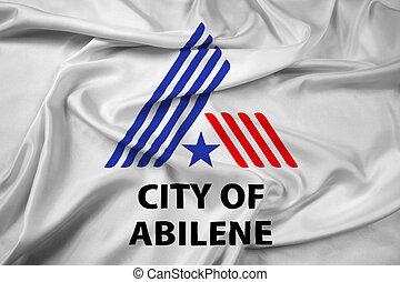Waving Flag of Abilene, Texas, USA
