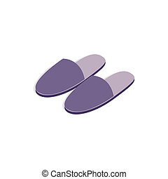 Pair of slippers icon, isometric 3d style