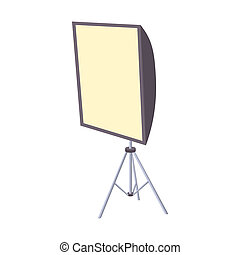 Softbox icon, cartoon style - Softbox icon in cartoon style...