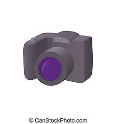 SLR camera icon, cartoon style - SLR camera icon in cartoon...