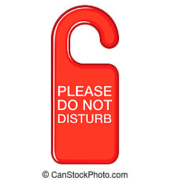 Do not disturb red sign icon, cartoon style - icon in...