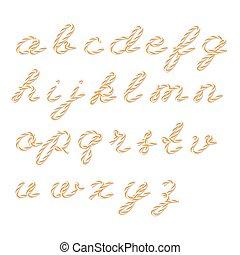 Bakers twine alphabet