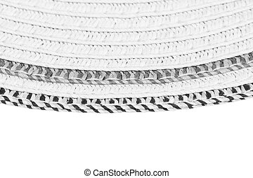 Woven straw background or texture and space for text Gray...