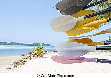 Paddle and beach at Koh kood island, Trat province, Thailand