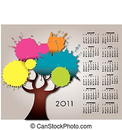 2011 splatter tree calendar