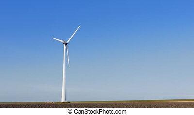 Single wind turbine near field