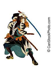 samurai, illustrazione