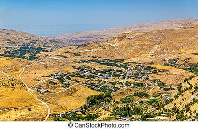 Jordanian landscape as seen from Al-Karak - Jordanian...