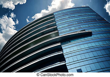 Modern Business Building - Modern and futuristic commercial...