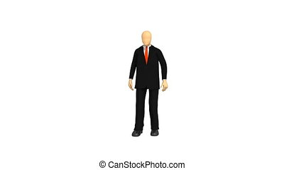 3d-man in a suit - Animation showing 3d-man in a suit...