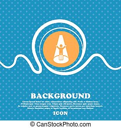 Spotlight icon sign. Blue and white abstract background flecked with space for text and your design. Vector