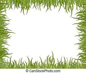 Wild grass frame - Illustrated frame made of blades of grass