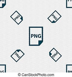 PNG Icon sign. Seamless pattern with geometric texture....