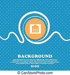 Internet cable, RJ-45 icon sign. Blue and white abstract background flecked with space for text and your design. Vector