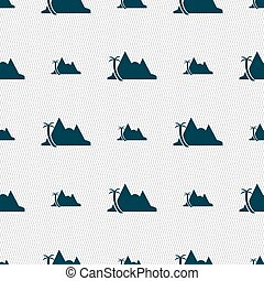 Mirage icon sign. Seamless pattern with geometric texture....