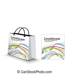shopping bag isolated on white background, vector...