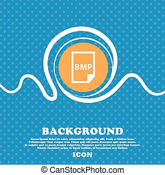 BMP Icon sign. Blue and white abstract background flecked...