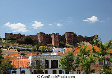Town Silves with its ancient castle which was built between...
