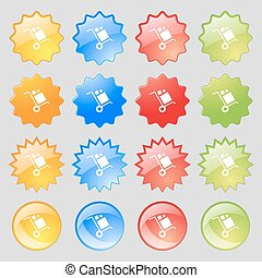 loader Icon sign. Big set of 16 colorful modern buttons for your design. Vector